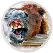 Aaron Berg Photography Round Beach Towel featuring the photograph Nay Sayer by Aaron Berg