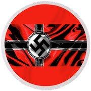 Nazi Flag Color Added 2016 Round Beach Towel