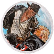 Nazis. I Hate Those Guys. Round Beach Towel