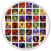 Nba All Times Round Beach Towel