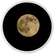 Near Full Moon, Strawberry Moon Round Beach Towel