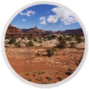 Near Goose Neck Round Beach Towel