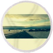 Round Beach Towel featuring the photograph Near Hartsel by Christin Brodie