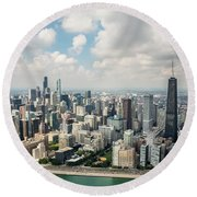 Near North Side And Gold Coast Round Beach Towel