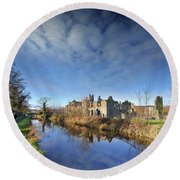 Neath Abbey 1 Round Beach Towel