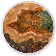 Nebula In Stone Round Beach Towel
