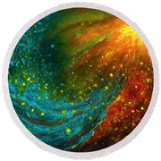 Nebulae  Round Beach Towel