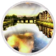 Necanium River Seaside Round Beach Towel by Thom Zehrfeld