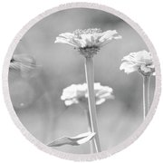 Nectar Black And White Round Beach Towel