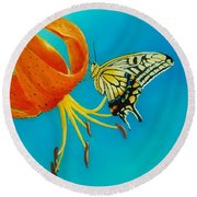 Nectar  Round Beach Towel