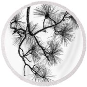 Needles II Round Beach Towel