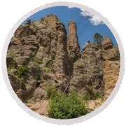 Needles In Custer State Park Round Beach Towel by Brenda Jacobs