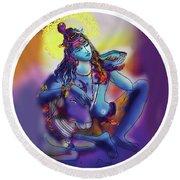 Neelakanth Shiva  Round Beach Towel