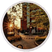 Round Beach Towel featuring the photograph Neenah Center Sunset by Joel Witmeyer