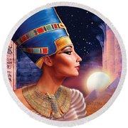 Nefertiti Variant 5 Round Beach Towel