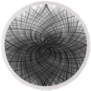 Round Beach Towel featuring the digital art Negativity by Carolyn Marshall