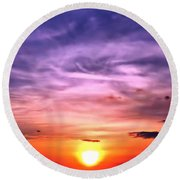 Negril Sunset Round Beach Towel