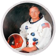 Neil Armstrong Round Beach Towel