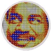 Round Beach Towel featuring the digital art Neil Degrasse Tyson Art Mosaic by Shawn Dall