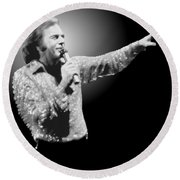 Neil Diamond Reaching Out Round Beach Towel