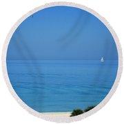 ...nel Blu Dipinto Di Blu Round Beach Towel by Mariarosa Rockefeller