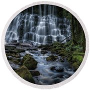 Nelson Falls Round Beach Towel