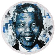 Nelson Mandela II Round Beach Towel by Richard Day