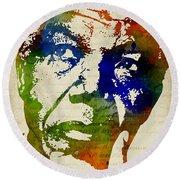 Nelson Mandela Watercolor Round Beach Towel