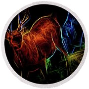 Neon Buck Round Beach Towel