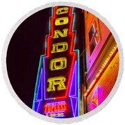 Neon Condor San Francisco Round Beach Towel
