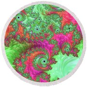 Neon Dream Round Beach Towel