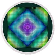 Neon P Round Beach Towel