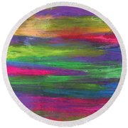 Neon Rainbow Round Beach Towel