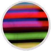 Neon Stripe Round Beach Towel