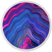 Neon Tunnel Round Beach Towel