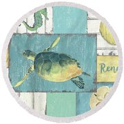 Neptune 1 Round Beach Towel