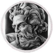 Neptune Round Beach Towel