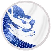 Nereids Round Beach Towel