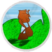 Nermin Round Beach Towel by Uncle J's Monsters