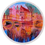 Netherland Dreamscape Round Beach Towel