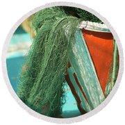 Nets Round Beach Towel