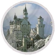 Neuschwanstein  Round Beach Towel