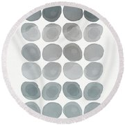 Neutral Stones- Art By Linda Woods Round Beach Towel by Linda Woods