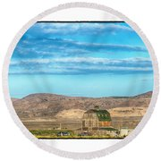 Nevada Barn Round Beach Towel