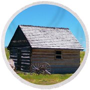 Nevada Homestead Round Beach Towel