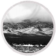 Nevada Snow Round Beach Towel