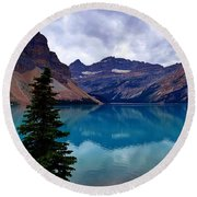 Bow Lake, Banff, Ab  Round Beach Towel by Heather Vopni