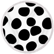 Never Change Your Spots Round Beach Towel