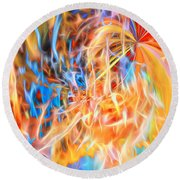 Round Beach Towel featuring the digital art Never Ending Worship by Margie Chapman