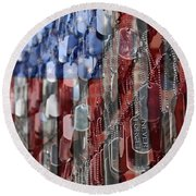 Round Beach Towel featuring the photograph Never Forget American Sacrifice by DJ Florek
